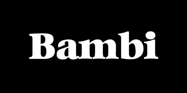 Free Bold Serif Font - Bambi