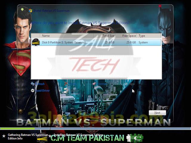 Windows 7 Batman Vs Superman  - عالم التقنيه