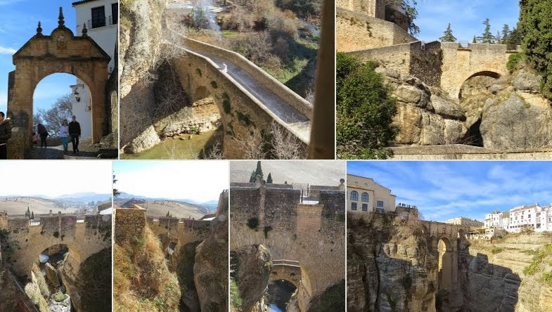 The Three Bridges of Ronda, Spain