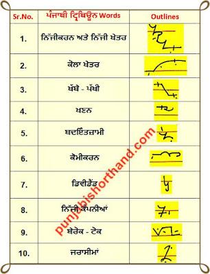 22-june-2020-punjabi-shorthand-outlines