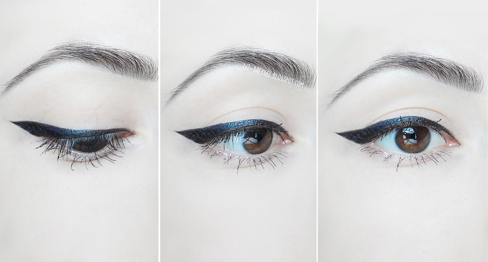 eye with cat eyeliner close up