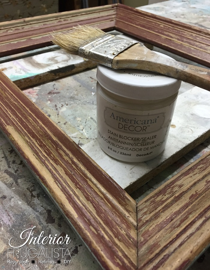 Coastal Picture Frame Serving Tray | The Interior Frugalista ...