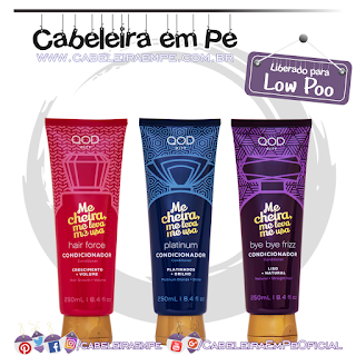 Condicionadores Platinum, Bye Bye Frizz e Force - QOD New City