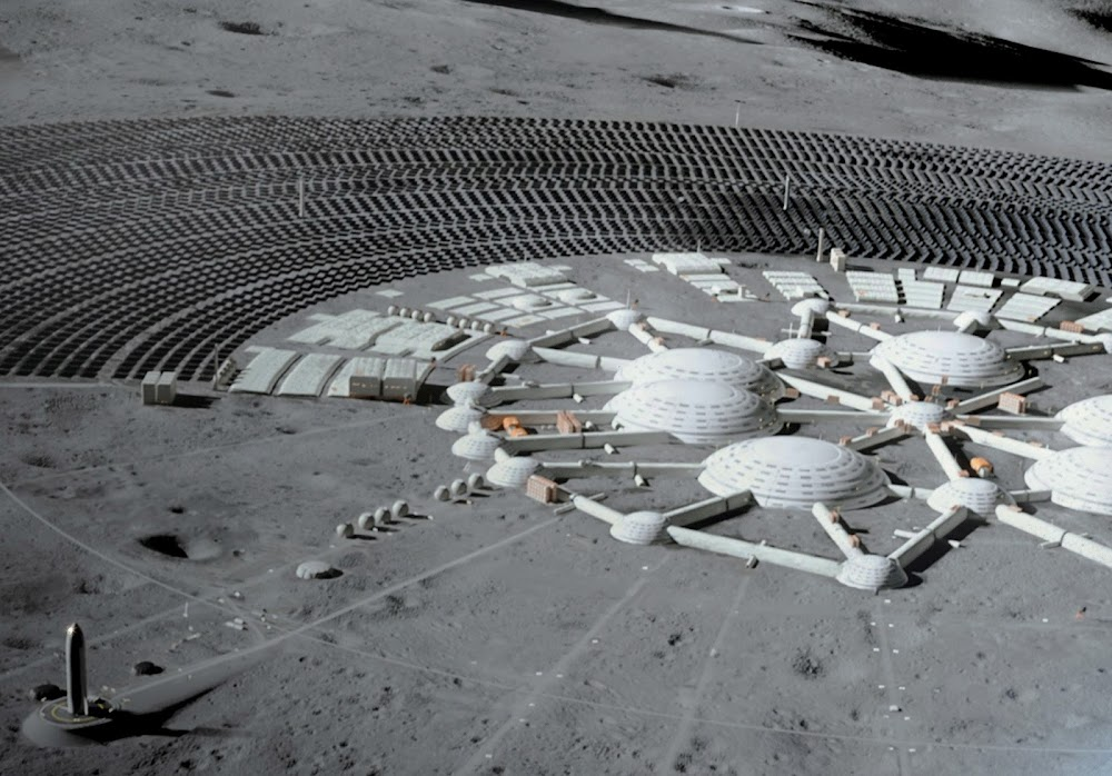 Human colony on the Moon