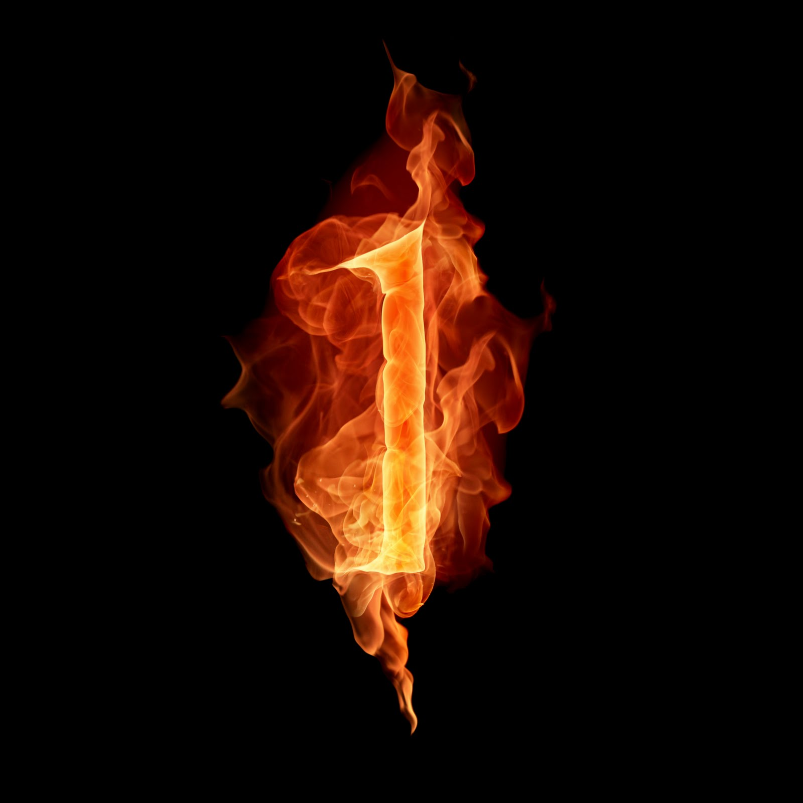 i letter in fire - photo #3
