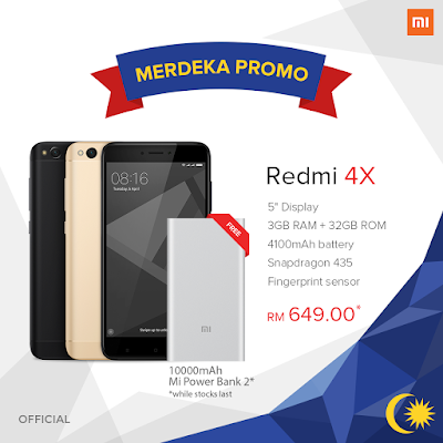 Official Mi Redmi 4X Malaysia Price Lazada Discount Offer Promo