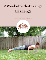 How to Do Chaturanga Plus a 2 week challenge to help you increase your upper body strength for Chaturanga. Printable progress tracker!