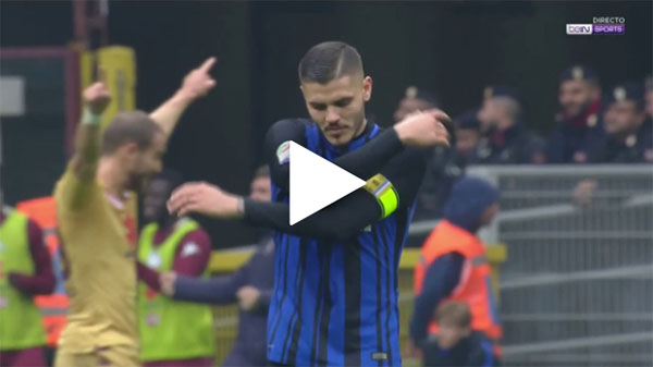 Video Inter Milan 1 - 1 Torino Serie A vòng 12