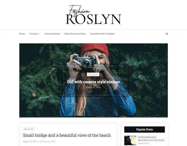 Roslyn Fashion Blogger Template