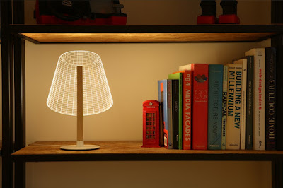 LED 3D lampshade with 3D lighting effect