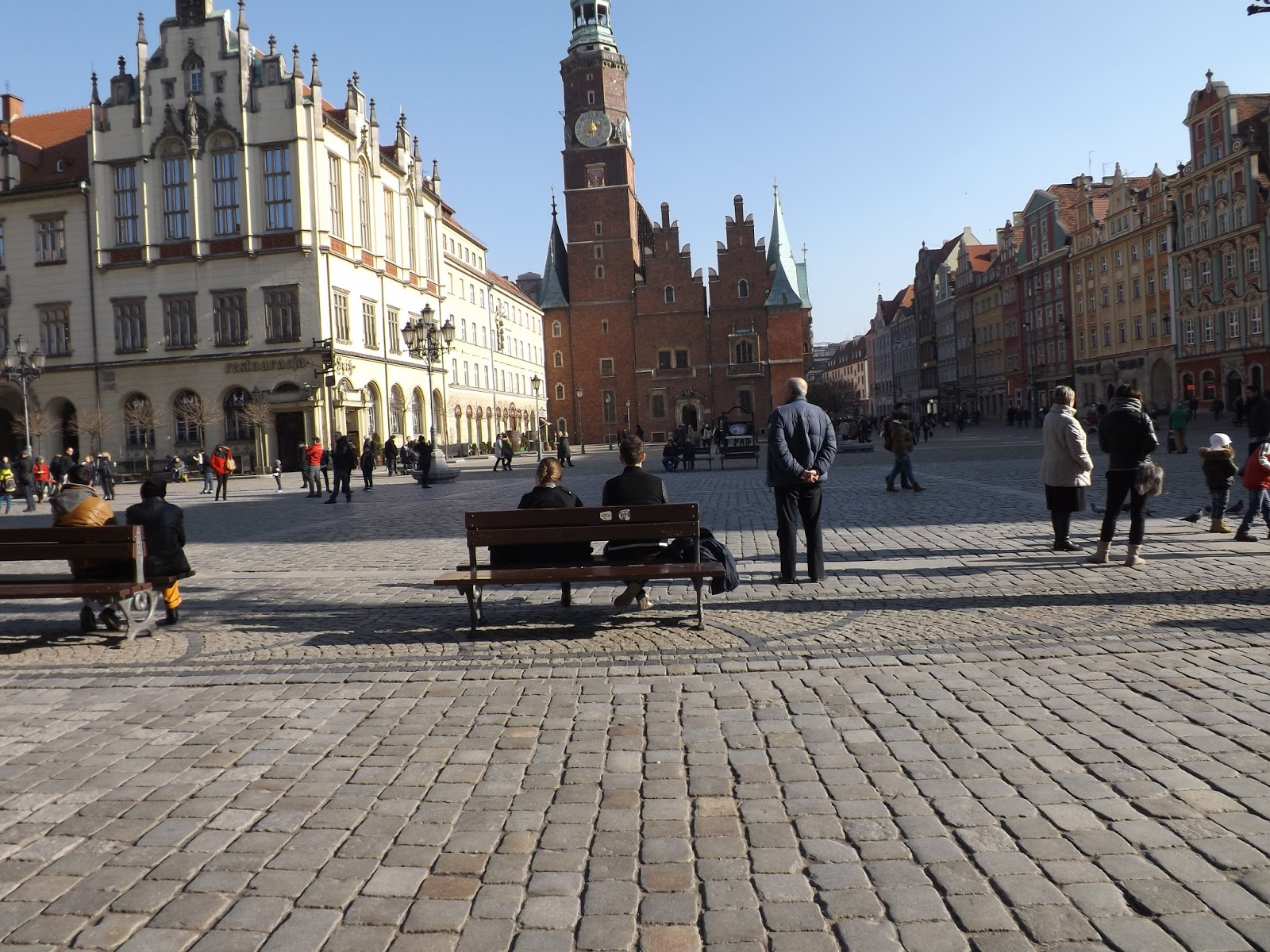 widok na stary rynek we Wrocławiu