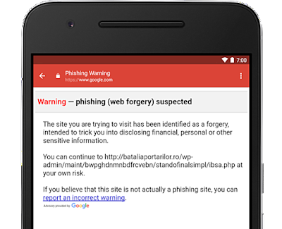 gmail android anti phishing update