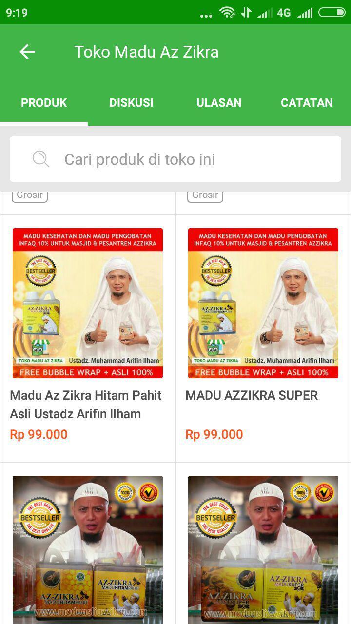 Madu Azzikra Asli 100 Rekomendasi Ustadz Muhammad Arifin Ilham Super Az Zikra Di Tokopedia Cara Oreder Pesan Belanja