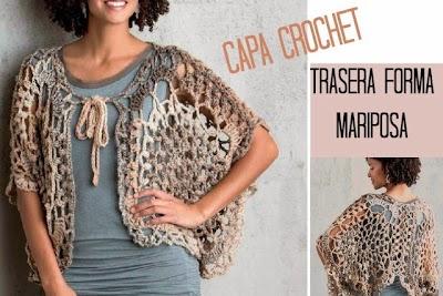 Capa-Torera Mariposa Crochet Patron