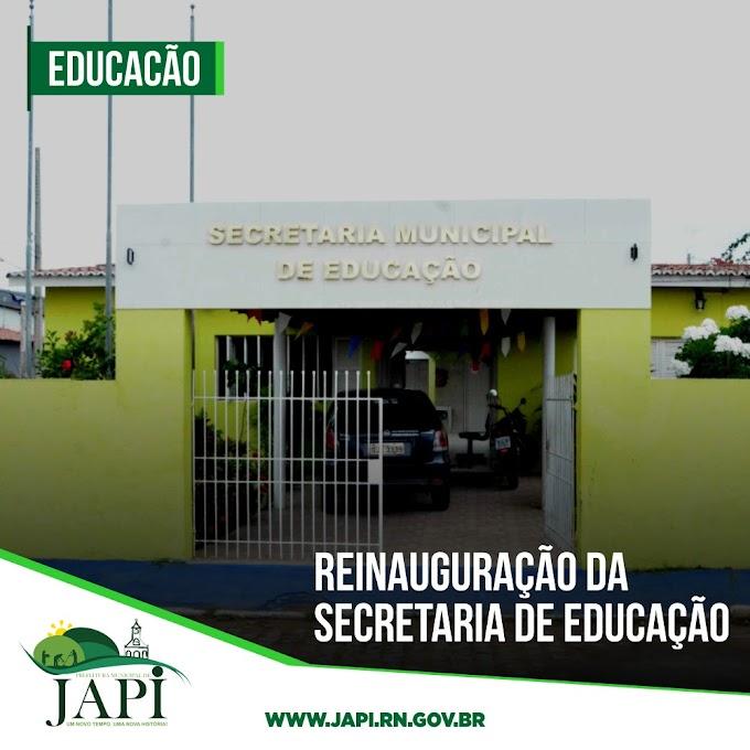 Prefeitura de Japi inaugura reforma do prédio da Secretaria de Educação