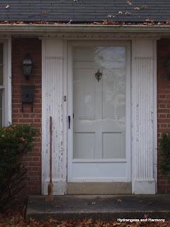Hydrangeas And Harmony Rag Wreath And Front Door Version