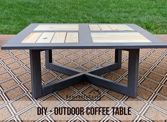 a beautiful design for an outdoor coffee table.