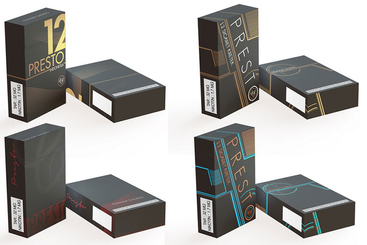 Cigarette Package Box Mockup