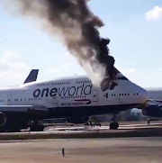 Video: A British Airways Boeing 747 Caught Fire at Castellon Airport in Spain