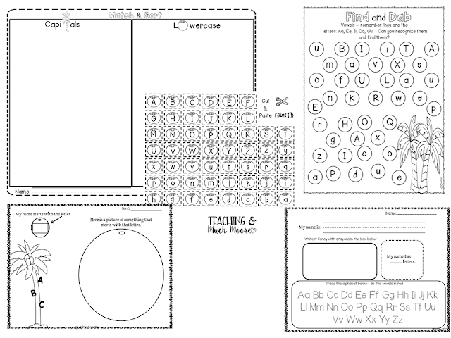 chicka chicka boom boom alphabet worksheets
