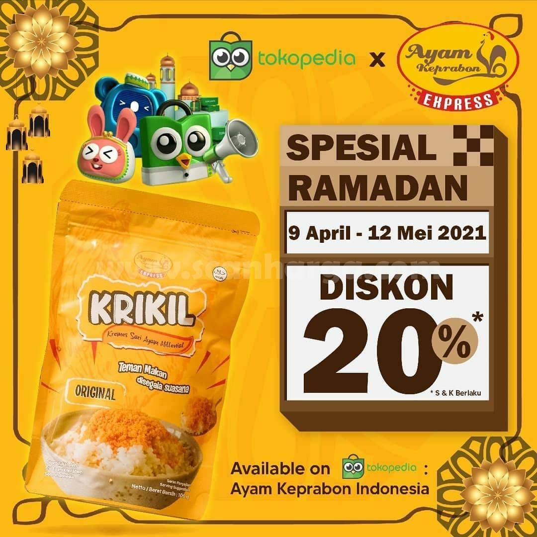 Ayam Keprabon x Tokopedia Promo Spesial Ramadan - Krikil Kremesan Diskon 20%