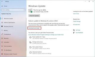 Upgrade to Windows 10 version 20H2