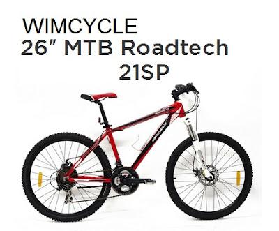 Sepeda Mtb Wimcycle Roadtech 24 dan 26