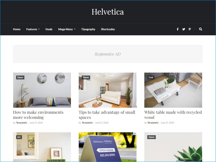 Helvetica Blogger Template