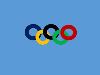 A foto mostra os anéis olímpicos entrelaçados que simbolizam a união dos cinco continentes para a grande festa da paralímpicas do rio de 2016.