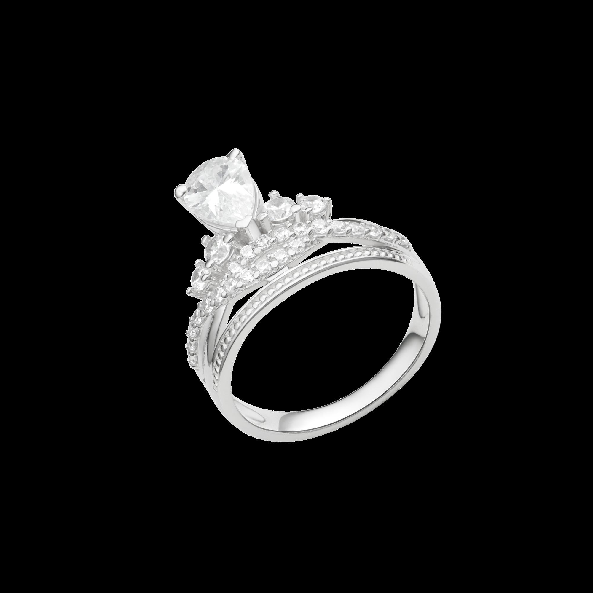 Nhẫn bạc đính đá PNJSilver Wanderlust XMXMK000187