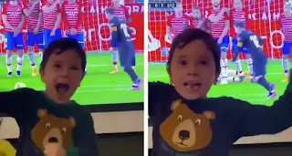 Video: Leo Messi son Mateo celebrates his father's first free-kick goal since July