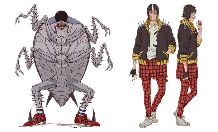 Dorohedoro anime - personajes