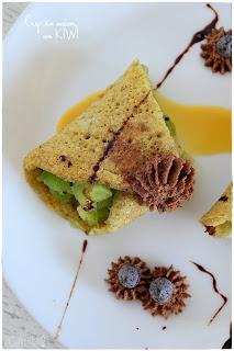 Crepes sin azúcar con kiwi