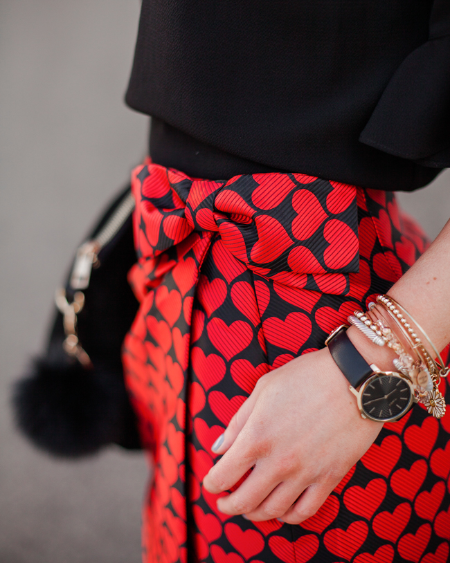 j.crew wrap skirt in jacquard hearts