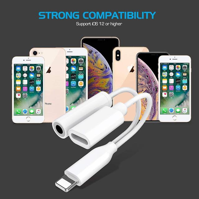 Kopfhörer Adapter für iPhone Aux Adapter 3,5mm Klinke Dongle Splitter Audio und Lade Adapter für iPhone 8/8 Plus/7/7Plus/X/XS/XR zubehör Kabel zum Aux-Audio-Anschluss Unterstützung Alle iOS Systeme Preis