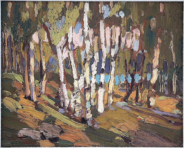 Tom Thompson, a group of small trees