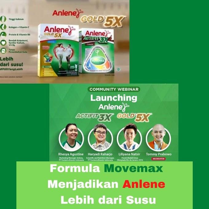 Formula Movemax Menjadikan Anlene Lebih dari Susu