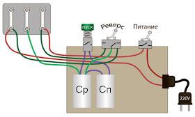 наглядная схема подключения трехфазного двигателя