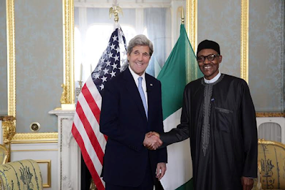 Buhari and the us secretatry of state john kerry