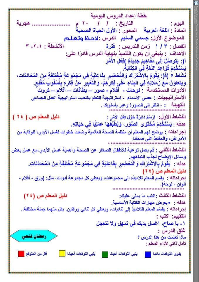تحضير دروس نافذة اللغة العربية للصف الثالث الابتدائي  أ / رمضان فتحي 9