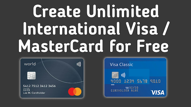Create Unlimited International Visa/Mastercard for Free Without Cost । iTSharif