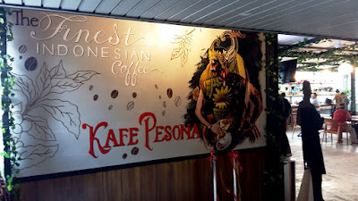 kafe pesona berada di lantai 3 Gedung Kementerian Pariwisata Jakarta Pusat