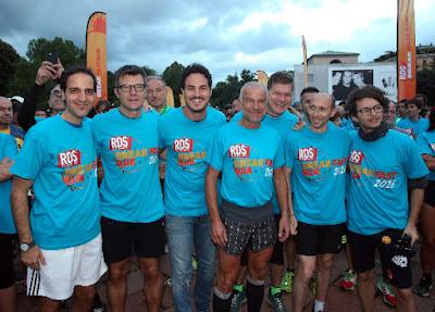 RDS Breakfast Run Milano -  Montefusco (RDS), Bellino (RCS Sport), D'Alessio (RDS), Barbugian, Rossi, Goffi e Colucci (RDS). Credit ANSA