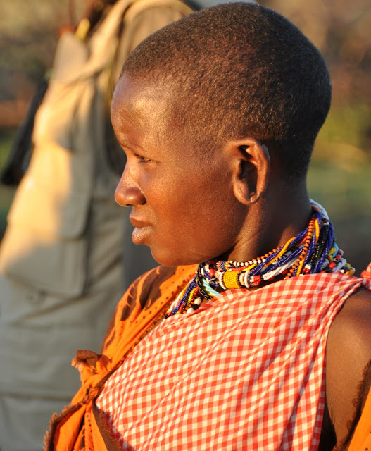 Beautiful Kenyan woman with stretched earlobes