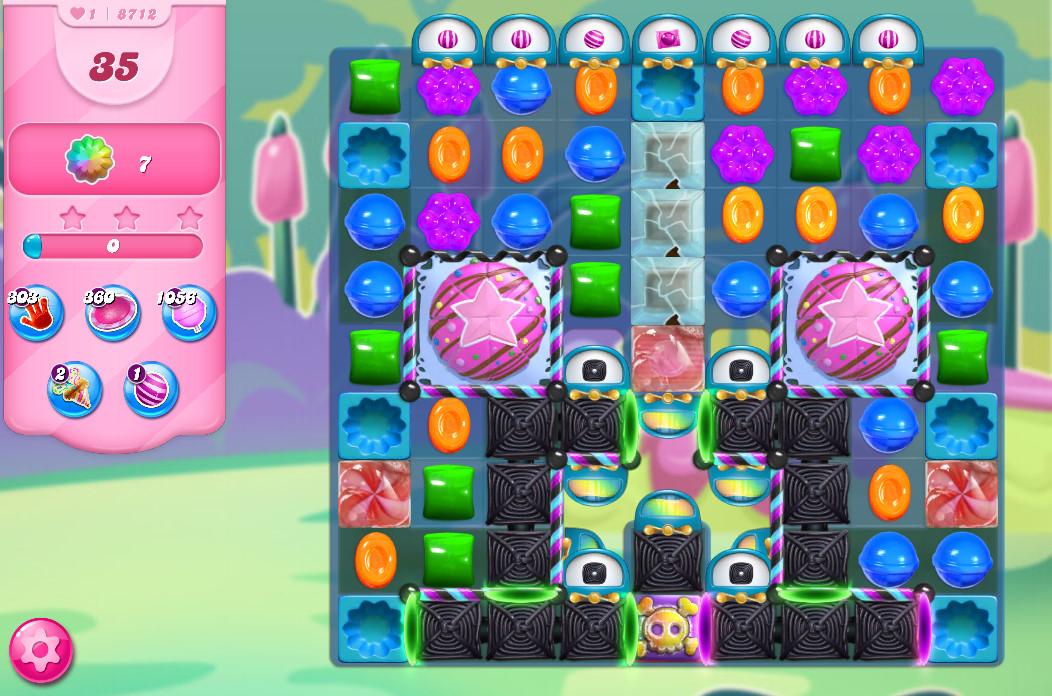 Candy Crush Saga level 8712
