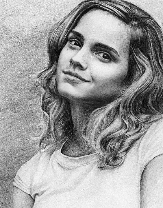 Emma watson pencil drawings photos