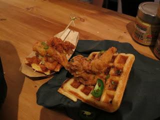 Amsterdam BrewHouse Jalapeño Chicken + Waffle