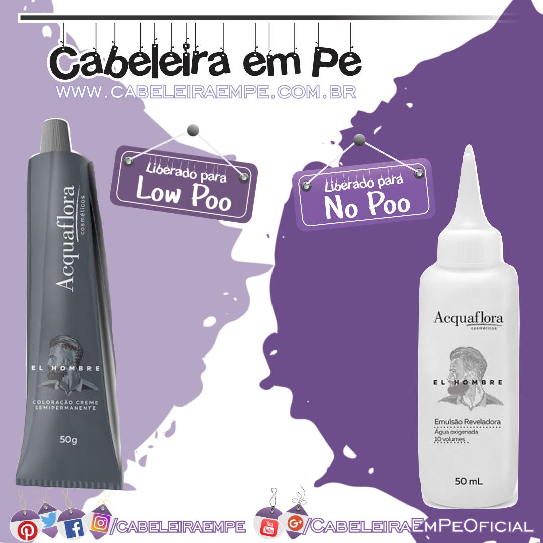 Coloração Creme Semipermanente El Hombre - Acquaflora (Low Poo)