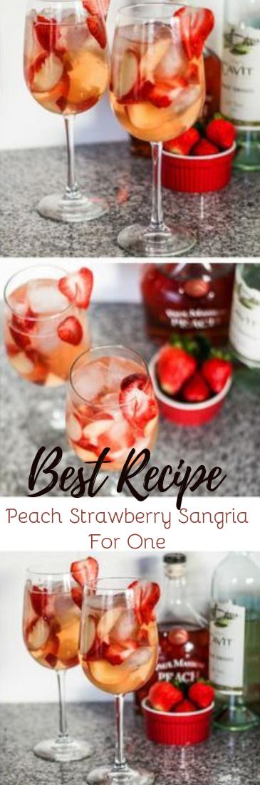 Peach Strawberry Sangria #healthydrink #easyrecipe