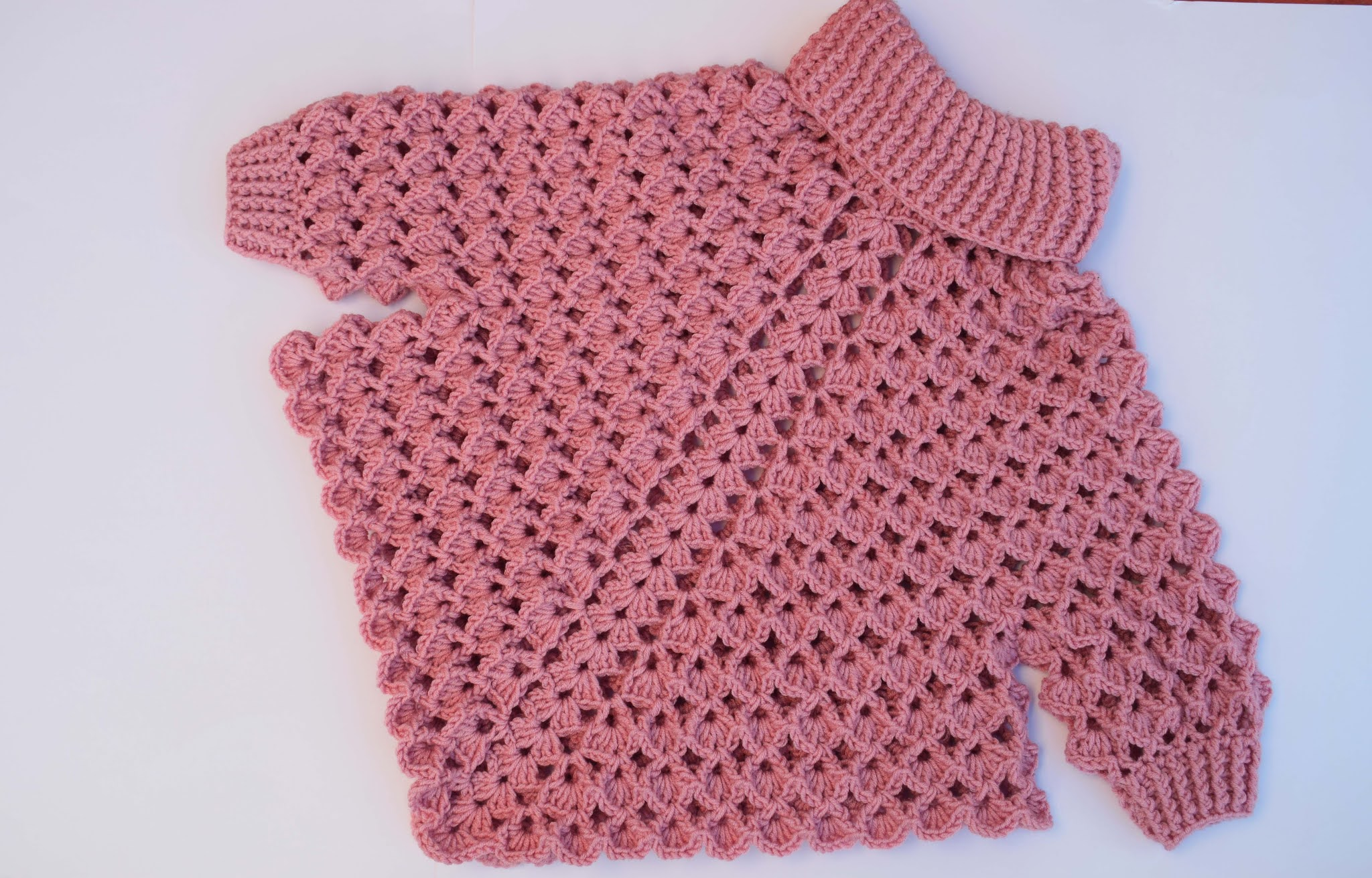 Turtleneck Poncho With Crochet Sleeves